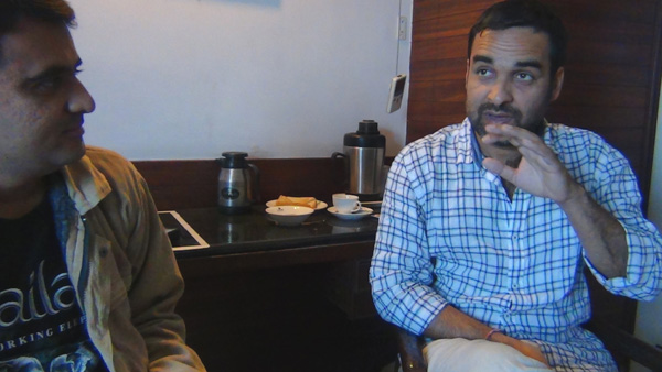 Devang Vibhakar and Pankaj Tripath during Interview