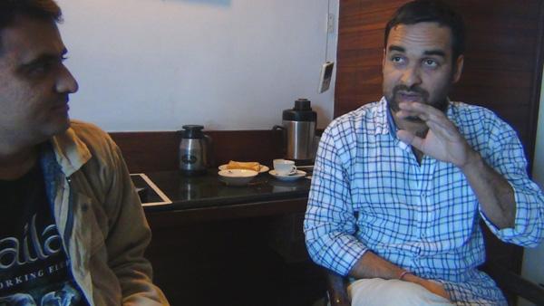 Devang Vibhakar and Pankaj Tripath during Interview