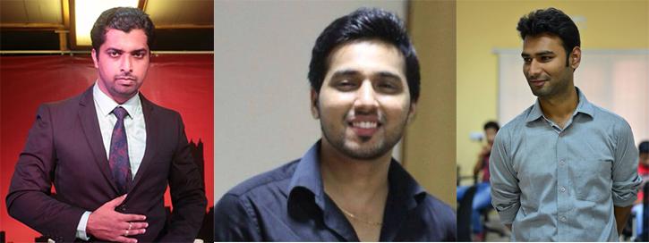 L to R: Aakarsh, Neeraj, Vikash