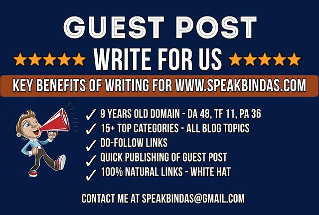 GuestPost at SpeakBindas.com