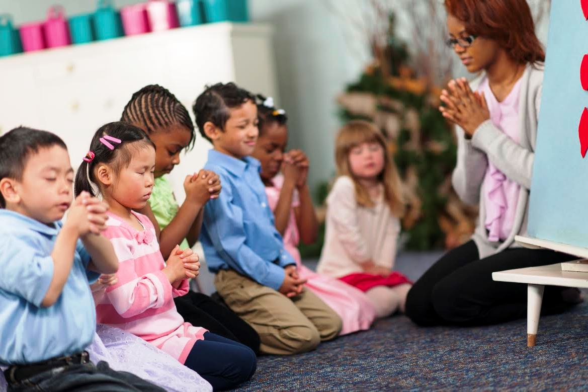 Kids Praying at School