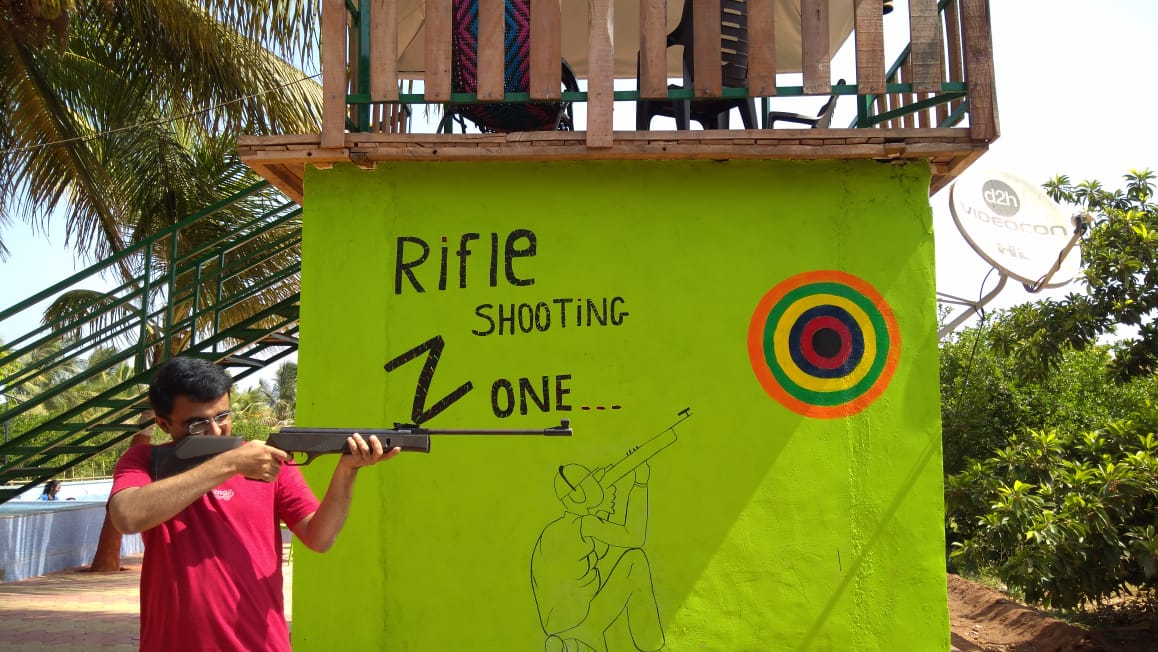 Devang Vibhakar at Rifle Shooting Zone DNK Organic Farm