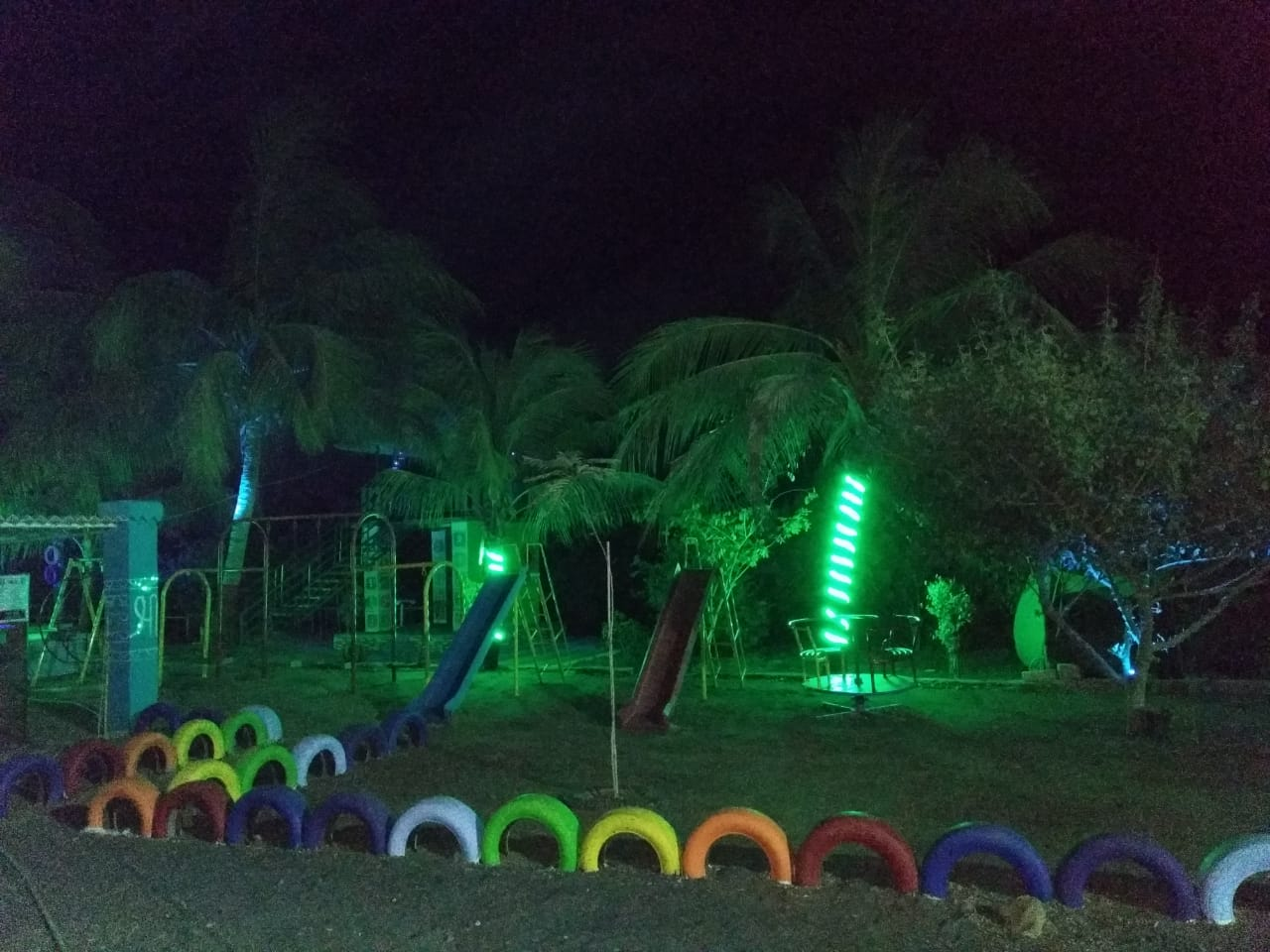 Night view at DNK Organic Farm