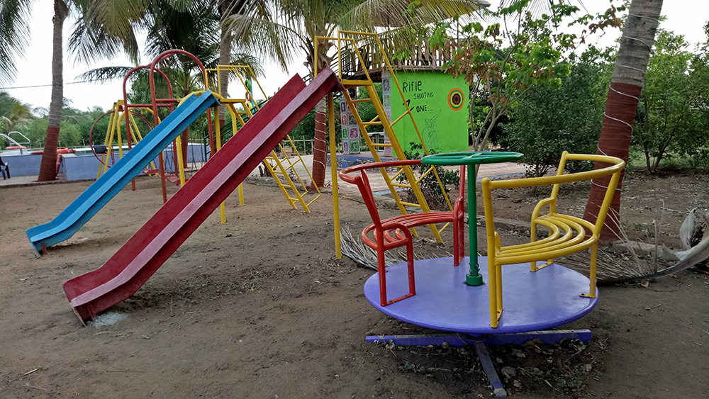 Play area at DNK Organic Farm